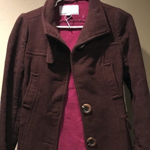 Brown pea coat (Old navy)